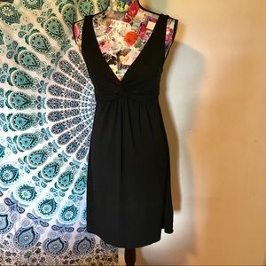 T-Shirt Material Black Sleeveless Dress